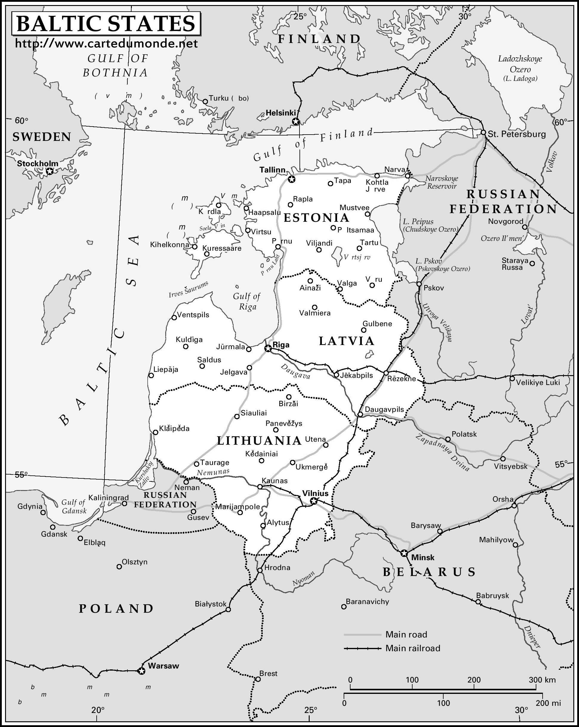 Karte Baltikum