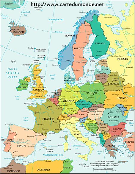 Polityczna mapa Europy