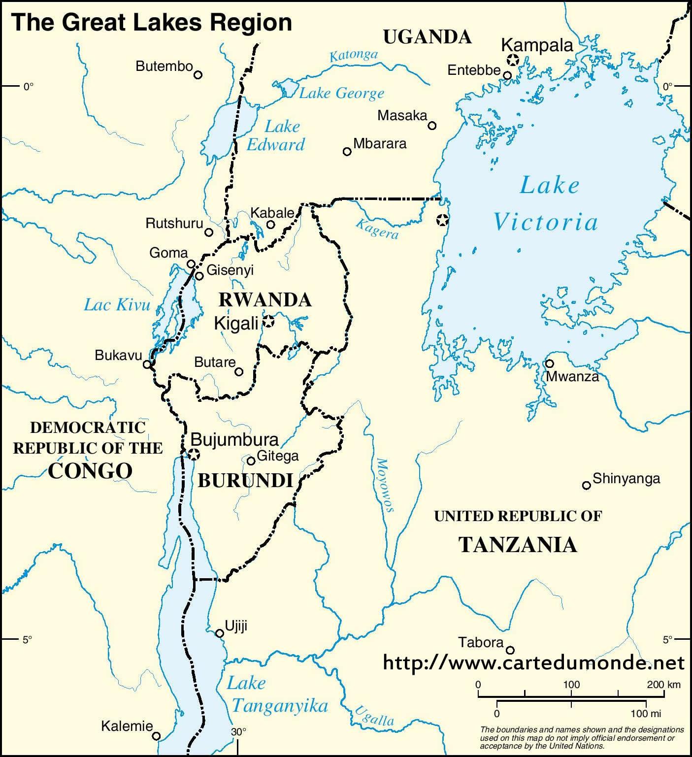 Region der Großen Seen 2 Englisch Karte