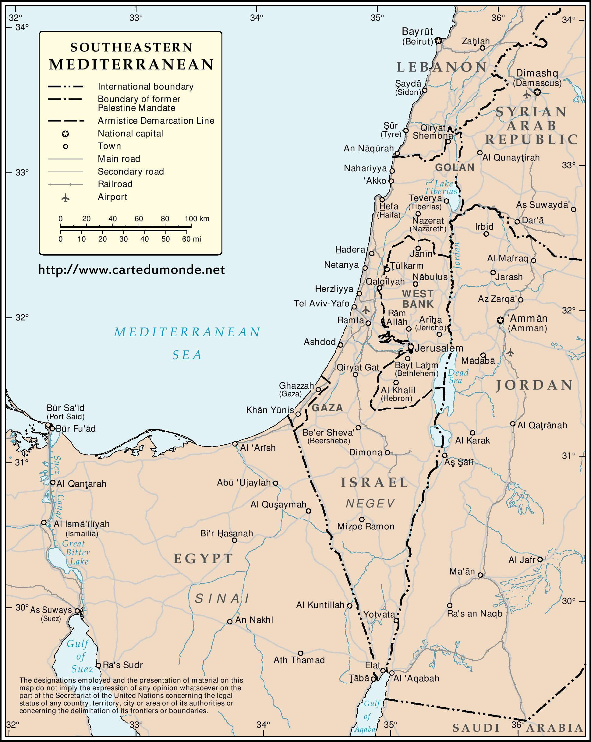 Mediterranean Political Map.Southern And Eastern Mediterranean Map World Map
