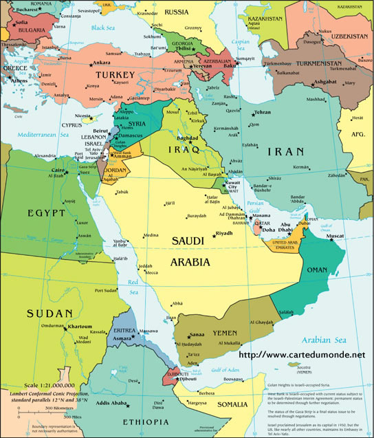 Map Middle East Policy, Weltkarte
