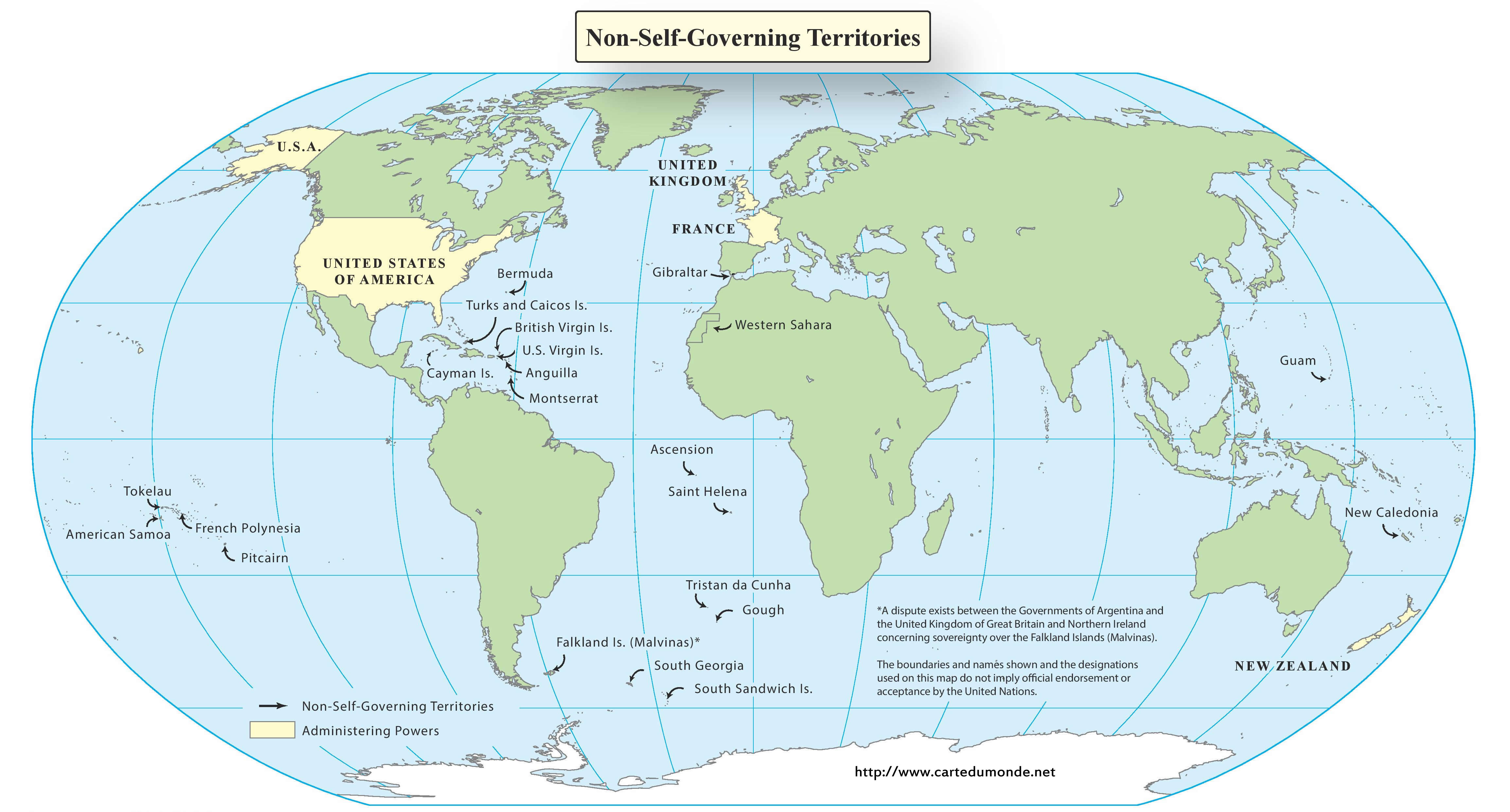 Non autonomous territories map english world map print non autonomous territories map english gumiabroncs Image collections