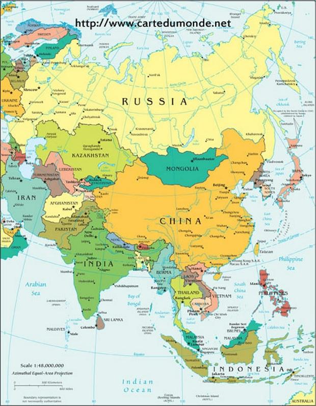 Asien Politische Landkarte