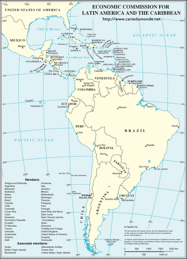 Economic commission for latin america and the caribbean world map economic commission for latin america and the caribbean gumiabroncs Images