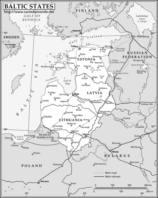 Map Baltic States