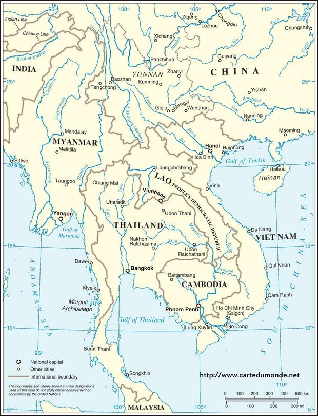 Region Mekong Karte