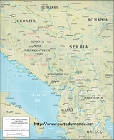 Physical central Balkan map
