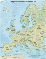 Carte Europe physique