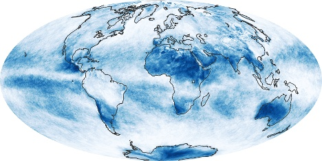 Weltkarte Wolke Fraction