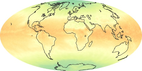 Weltkarte Strahlungsbilanz