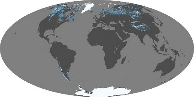 World Map Snow Cover
