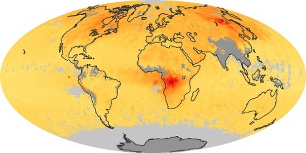 World Map Carbon monoxide