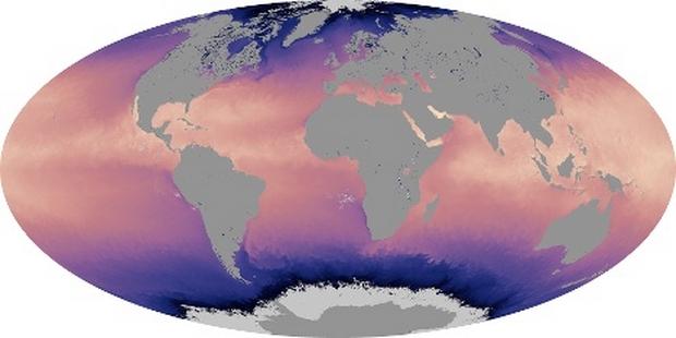 Mapa del mundo en superficie Temperatura