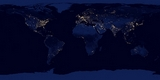 Map City Lights of the Earth