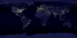 World Map Night Lights
