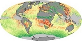 World Map Aerosol Size