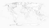 World Map virgin printing