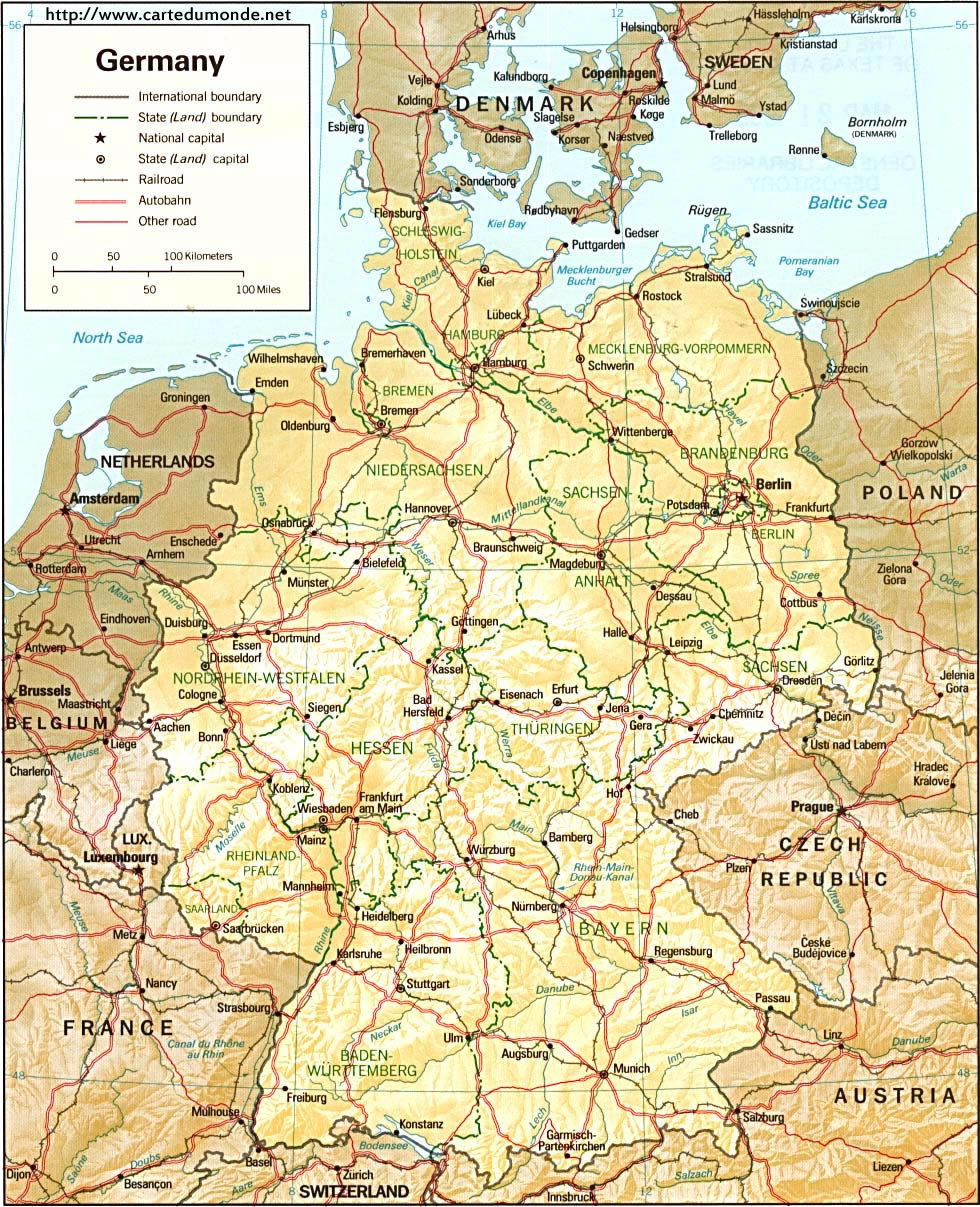 Larger map Germany