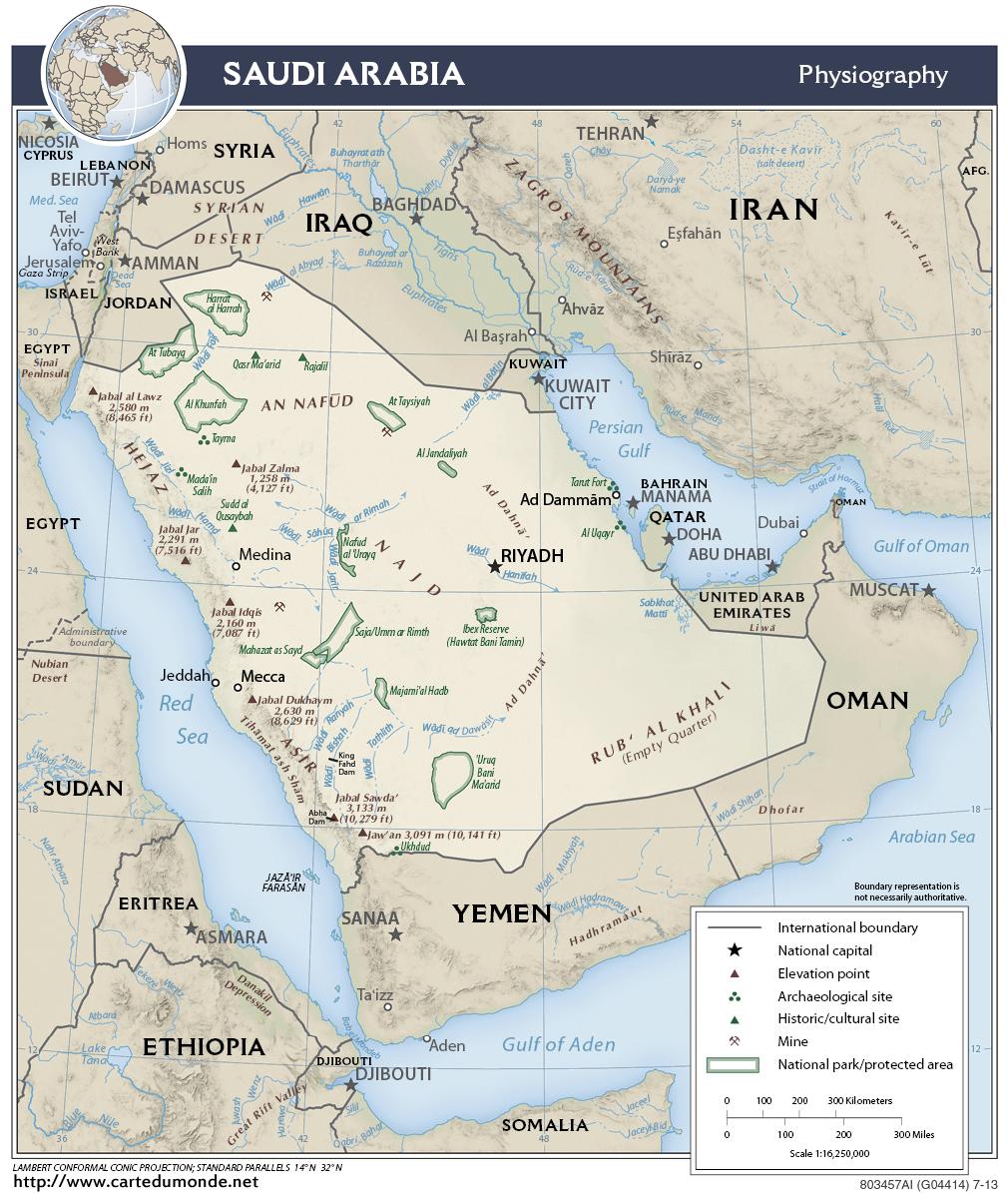 Map Saudi Arabia, Country Map Saudi Arabia