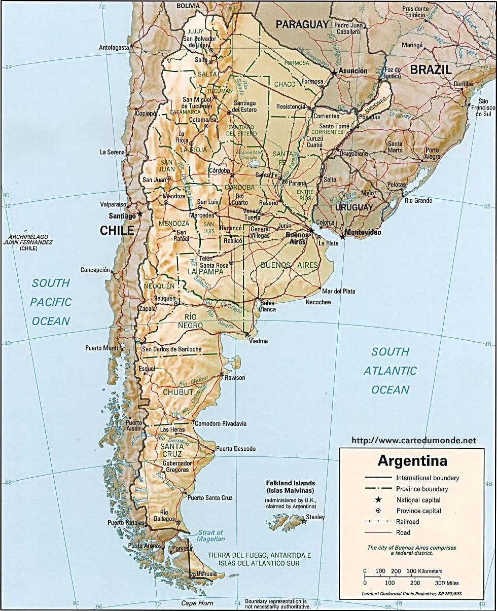 Grande carte Argentine