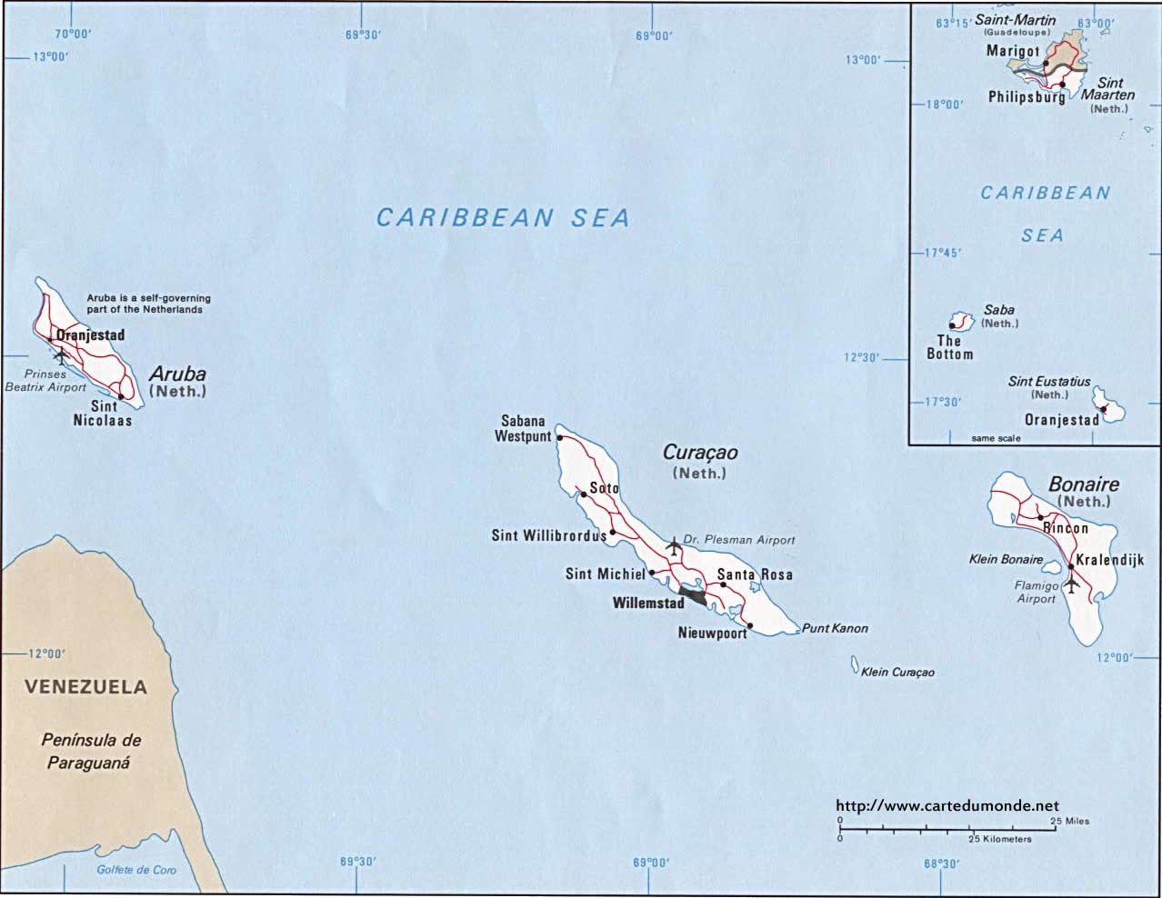 Picture of: Map Aruba Country Map Aruba