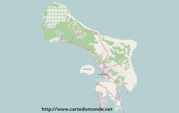 Grande carte Bonaire-Saint-Eustache-et-Saba