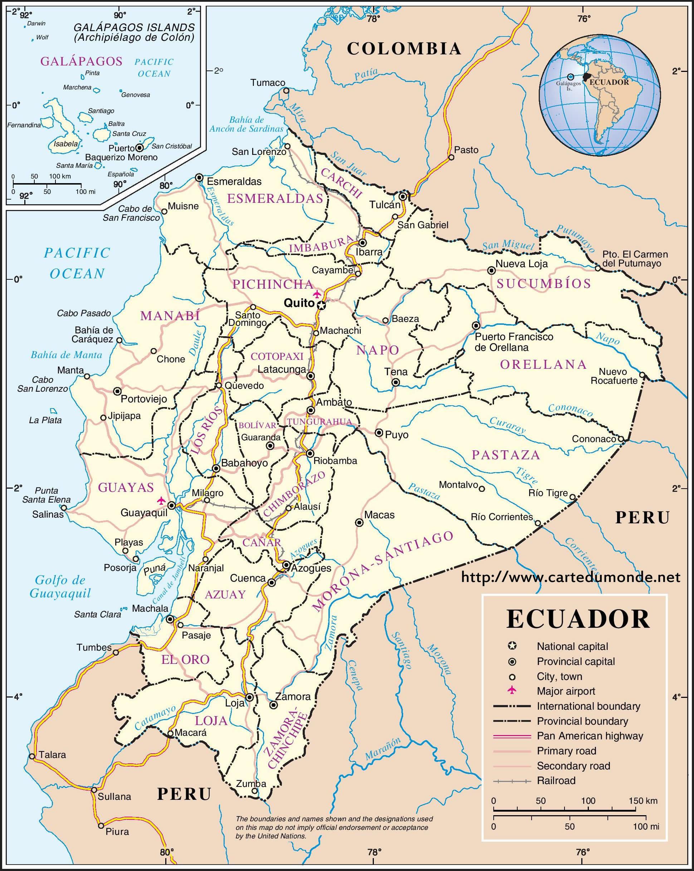Grande carte Équateur