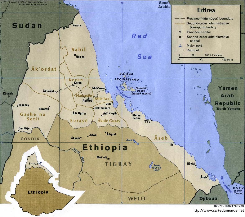 Grande carte Érythrée
