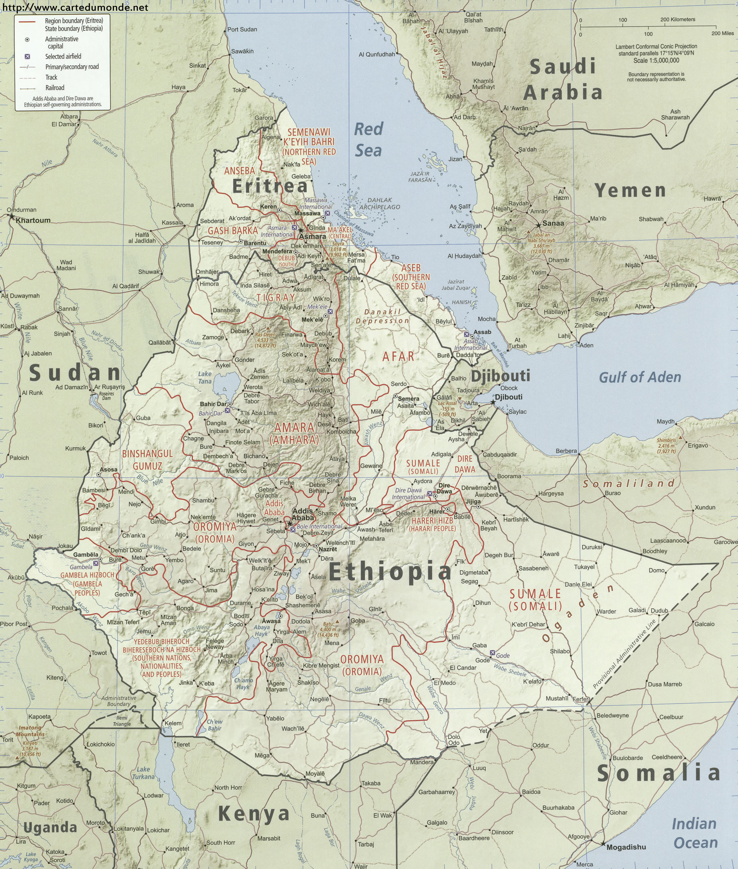 Picture of: Larger Map Ethiopia On World Map