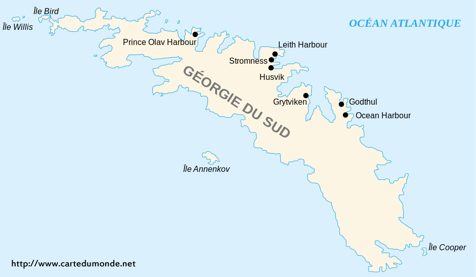 Map South Georgia and the South Sandwich Islands, Country Map South ...