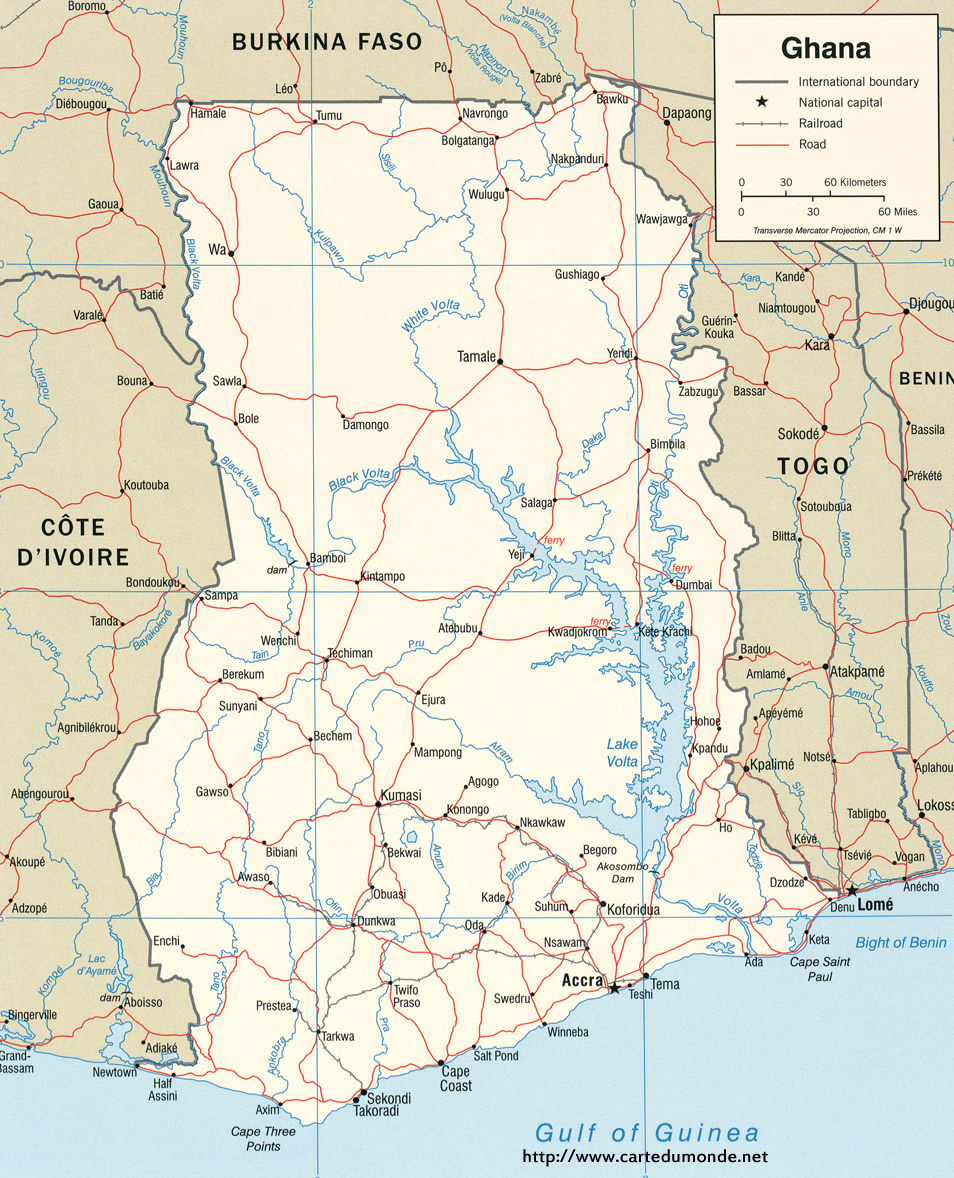 Map Ghana, Country Map Ghana