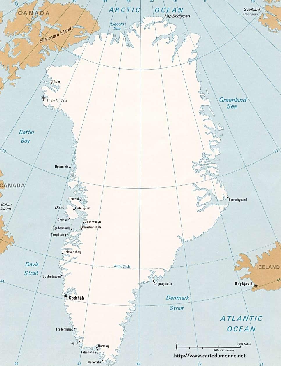 Karte vergrößern Grönland