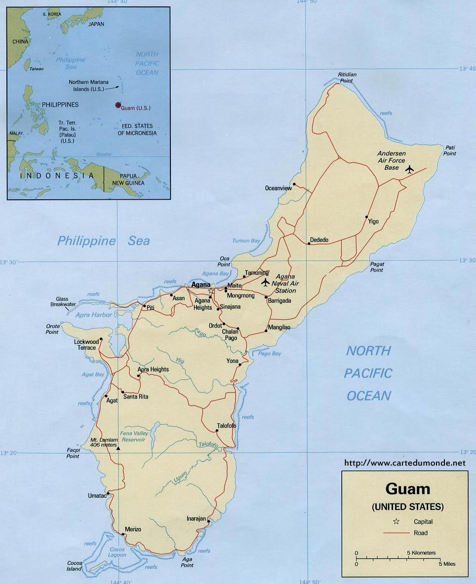 Agrandar El Mapa Guam En El Mapa Mundial