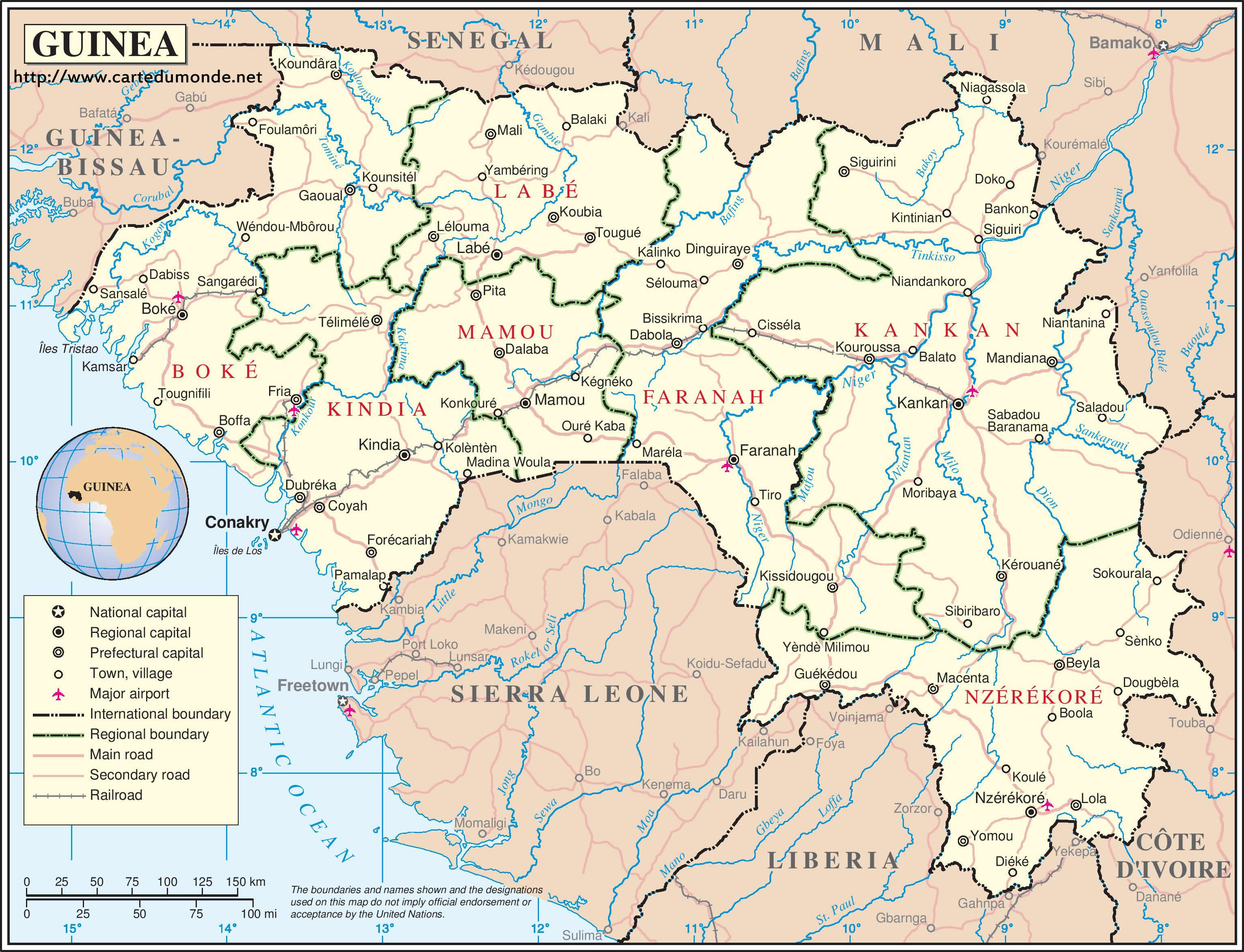 Karte vergrößern Guinea