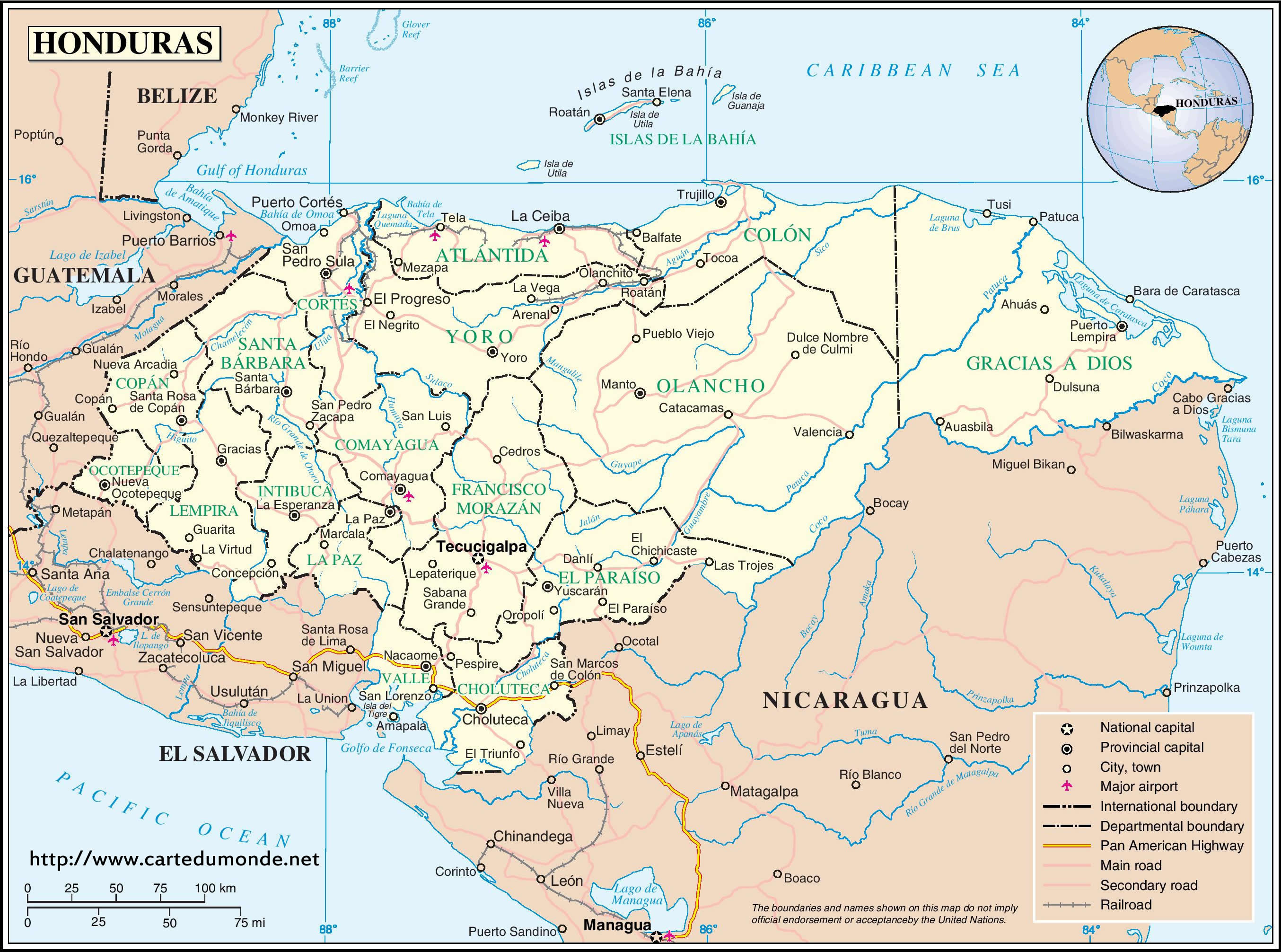 Print The Map Honduras