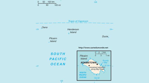 Karte Island Drucken.Karte Pitcairn Islands Karte Auf Land Pitcairn Islands