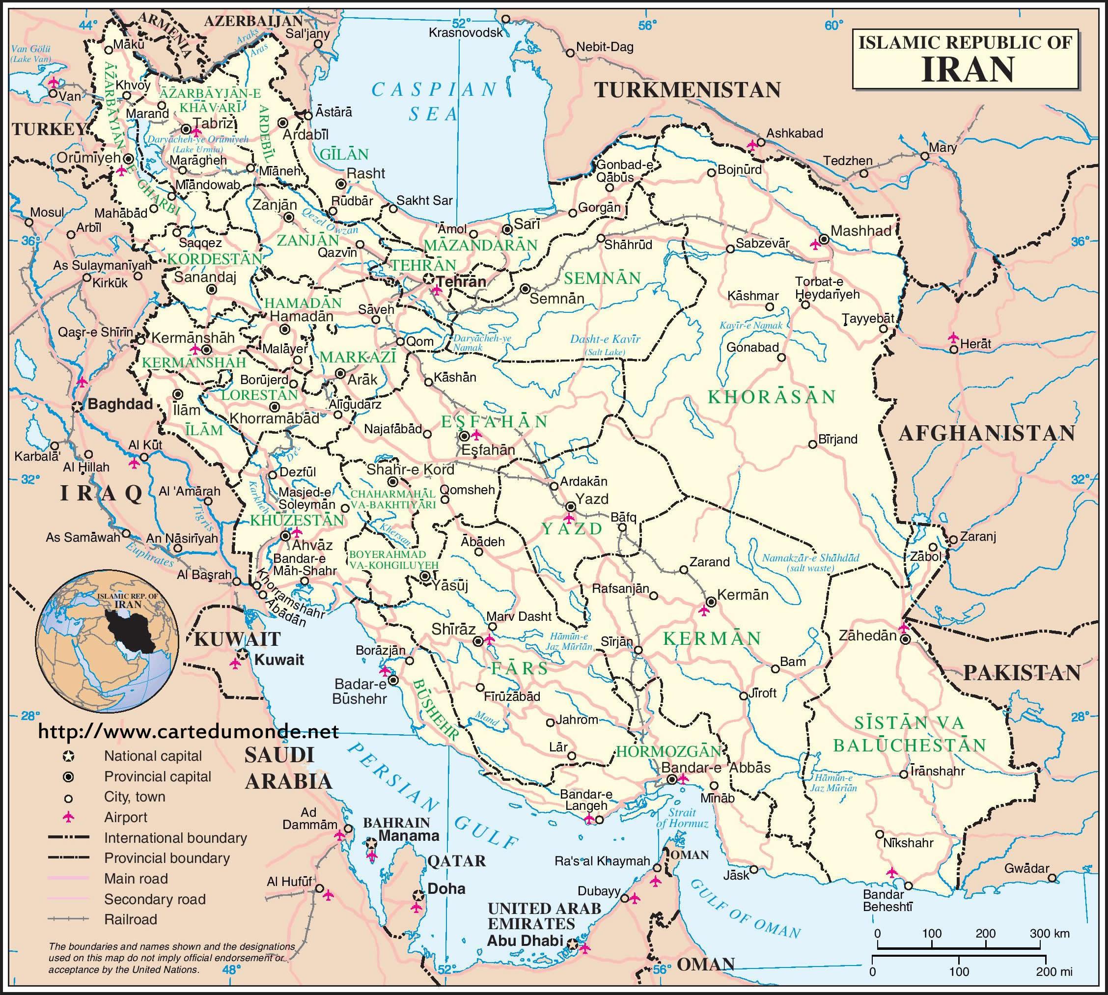 Groot Kaart Iran