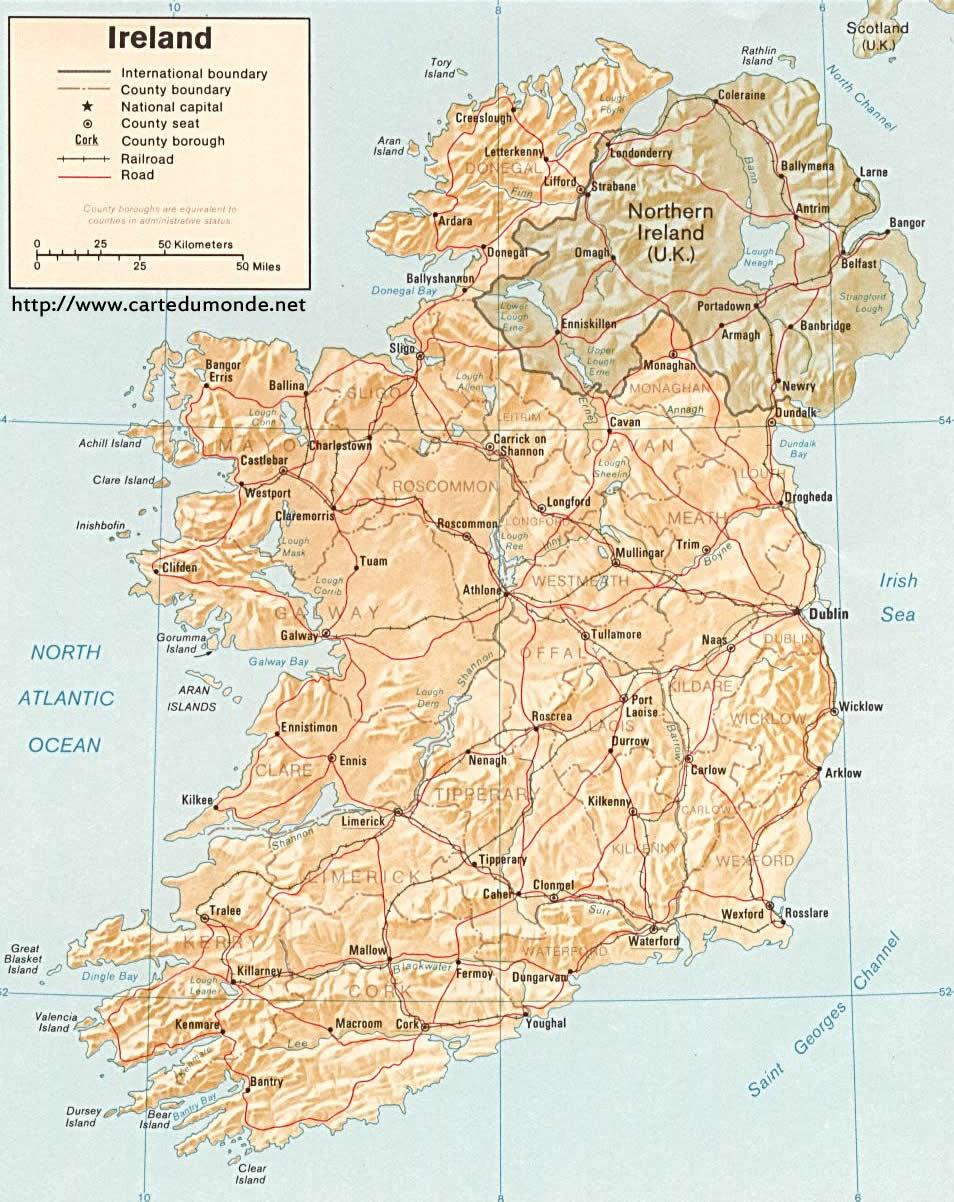 irland karte drucken Karte vergrößern Irland auf Weltkarte