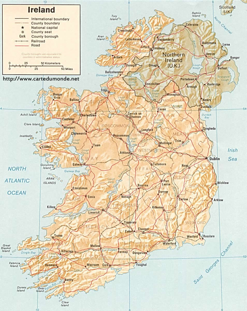 Karte Vergrossern Irland Auf Weltkarte