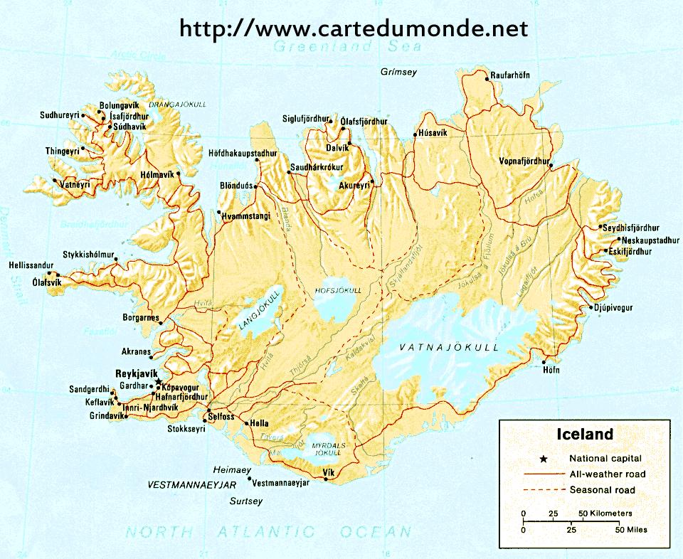 Karte Island Drucken.Karte Island Karte Auf Land Island