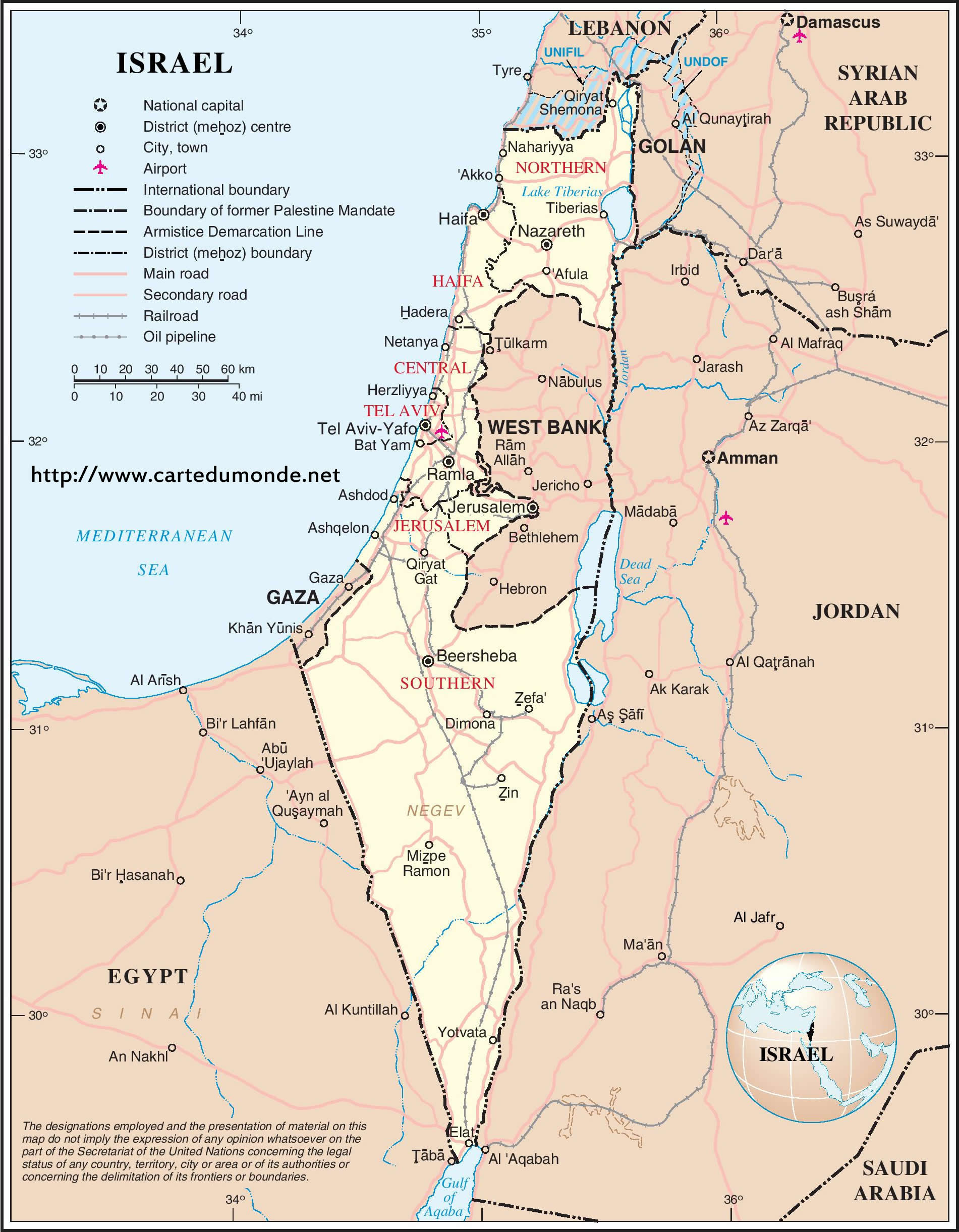 Map israel country map israel print the map israel gumiabroncs
