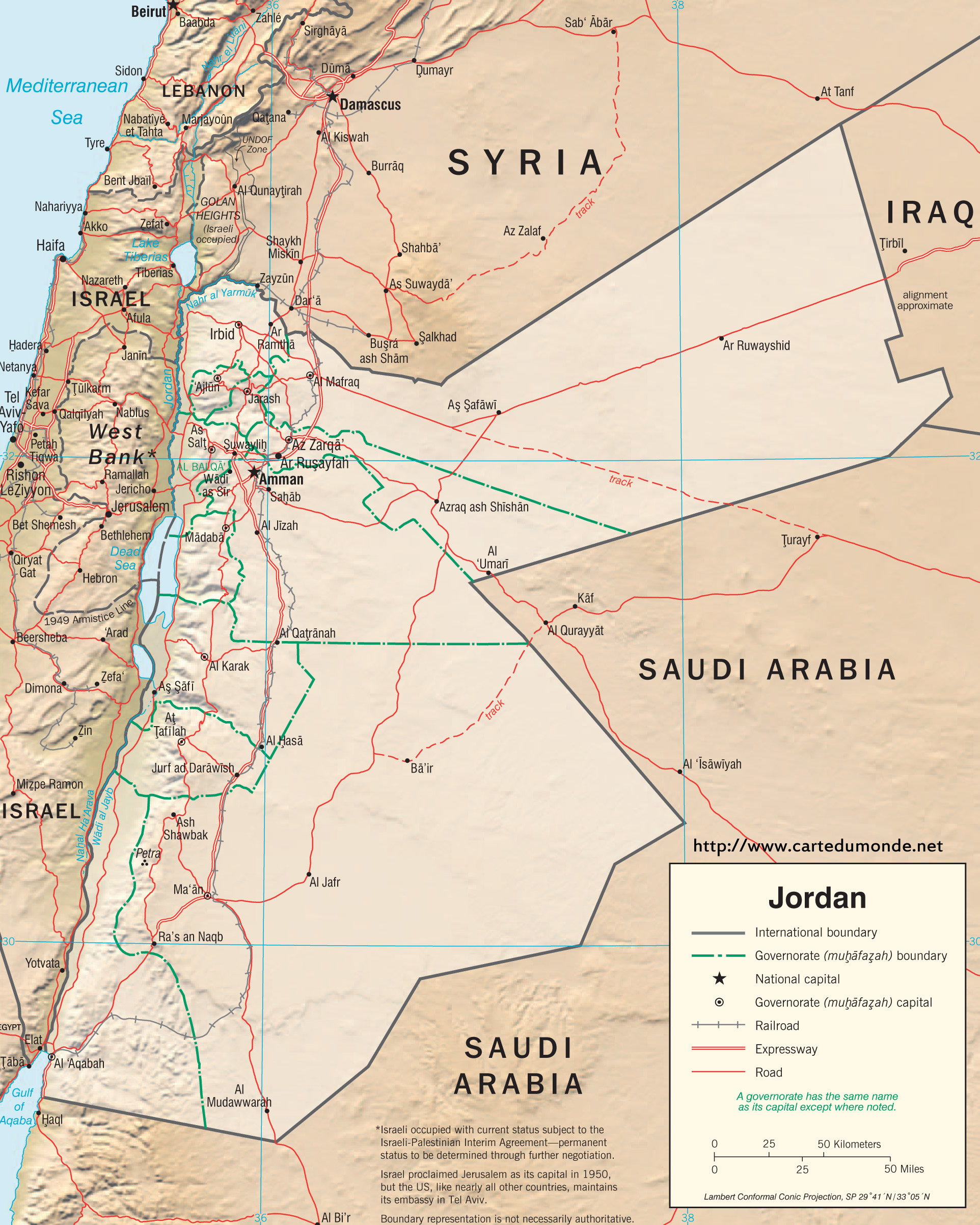 Map Jordan Country Map Jordan