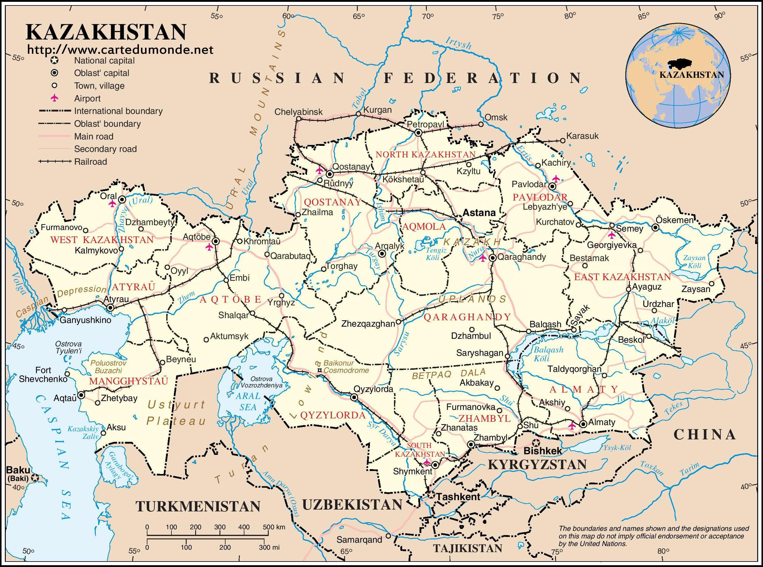 Map kazakhstan country map kazakhstan print the map kazakhstan gumiabroncs Choice Image