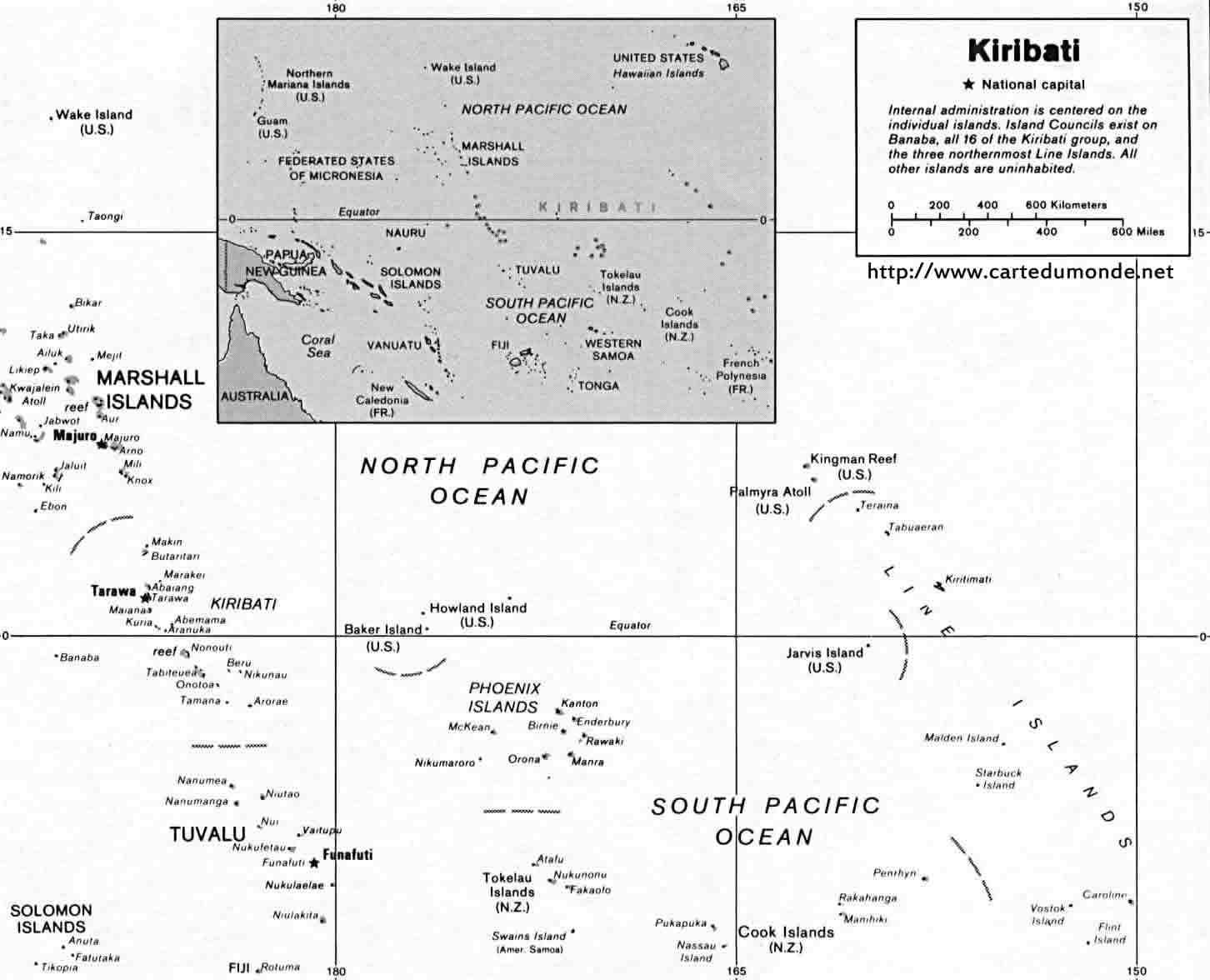 Karte vergrößern Kiribati