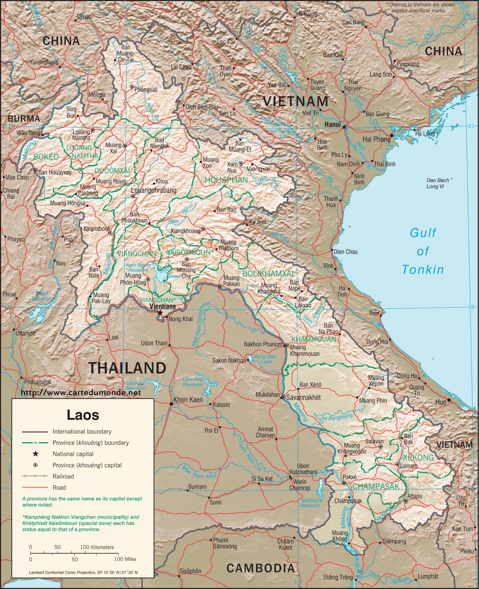 Carte Du Monde Laos.Grande Carte Laos Sur Carte Du Monde