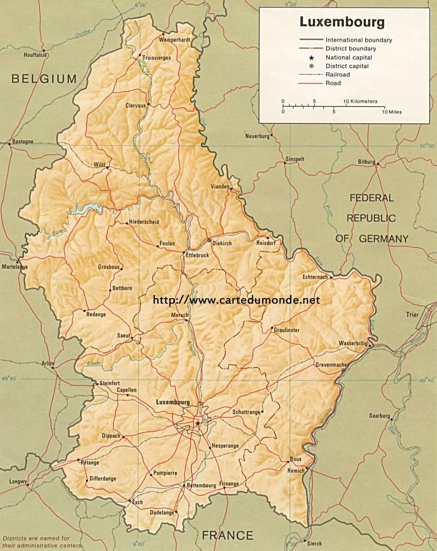 Duzy Mapa Luksemburg Na Mapie Swiata