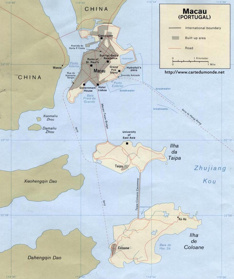 Karte vergrößern Macao