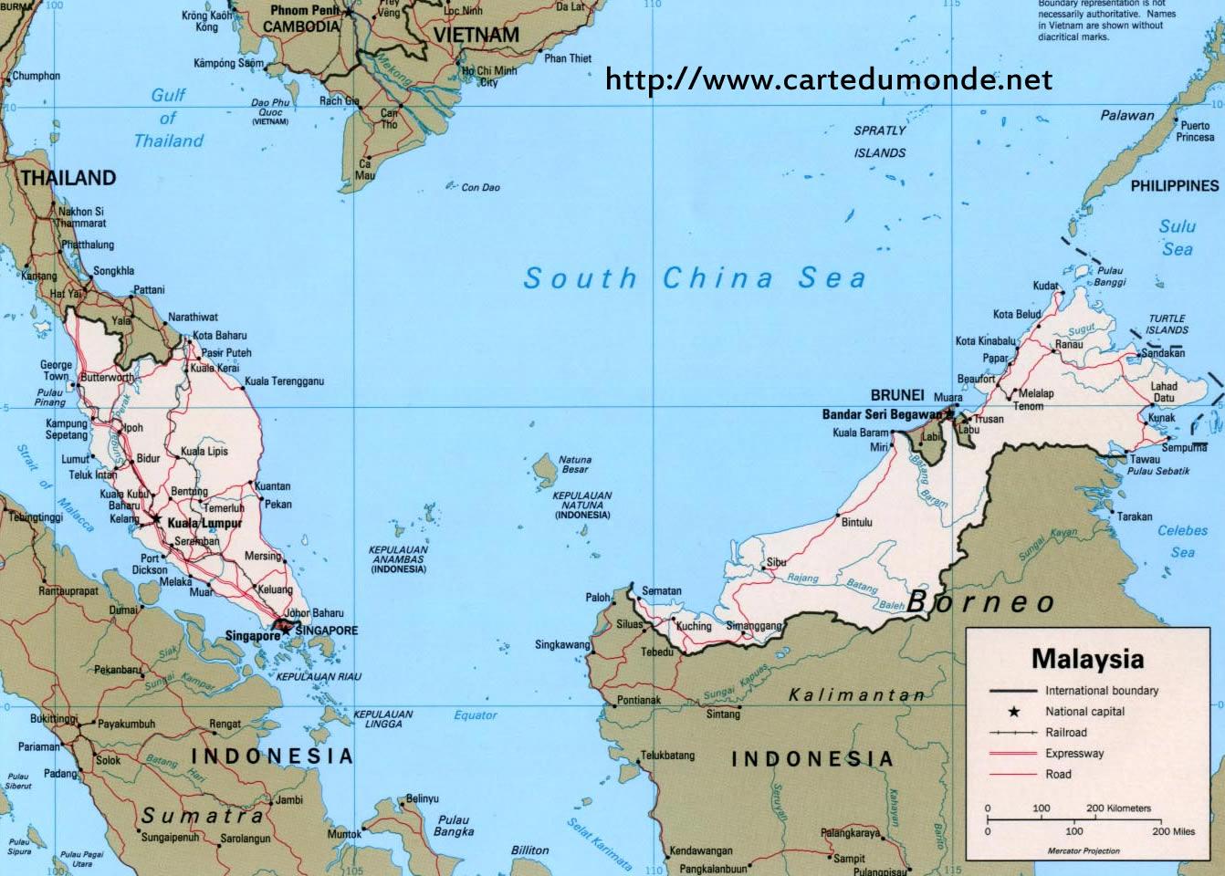 Agrandar El Mapa Malasia En El Mapa Mundial