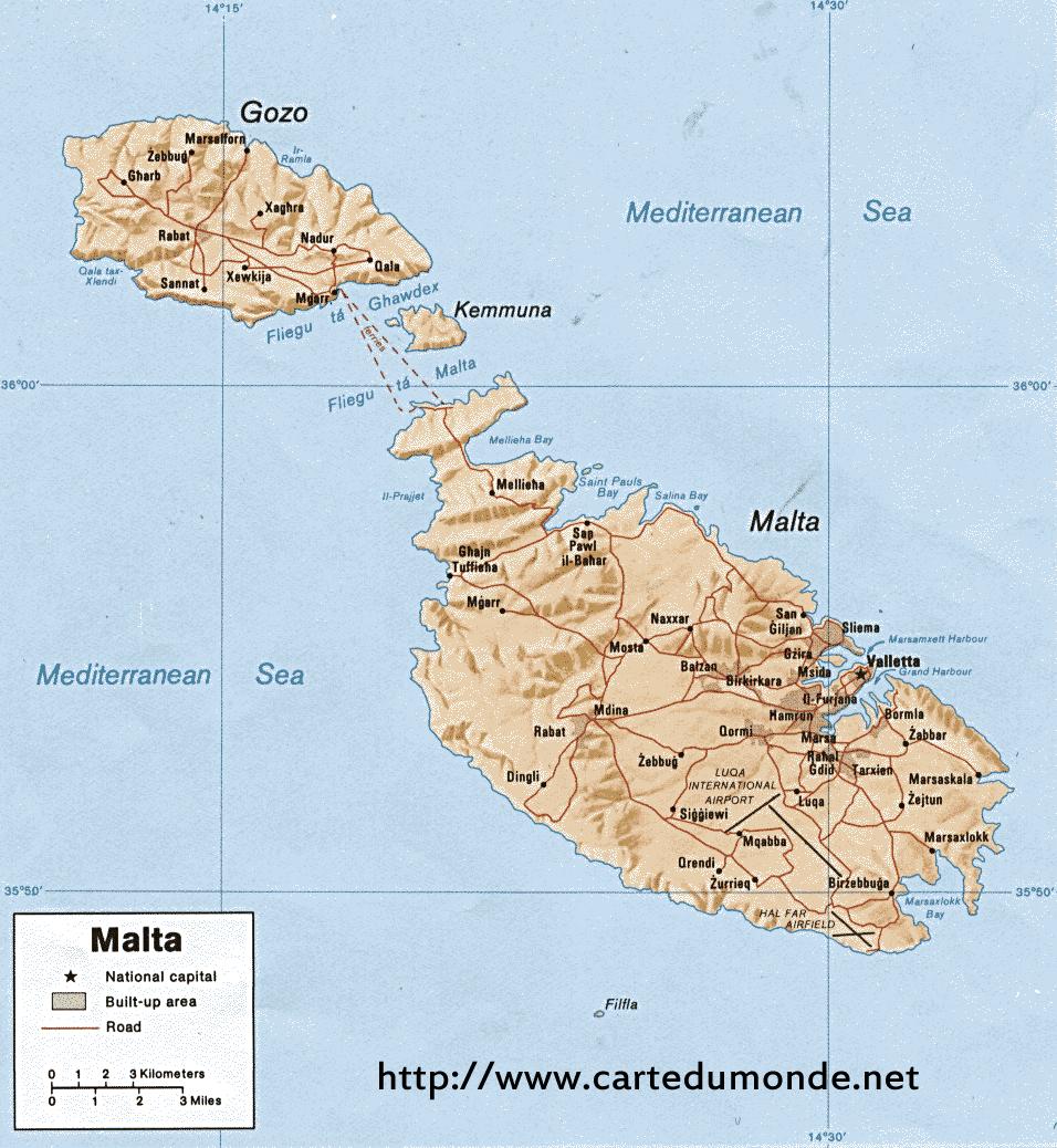Karte vergrößern Malta