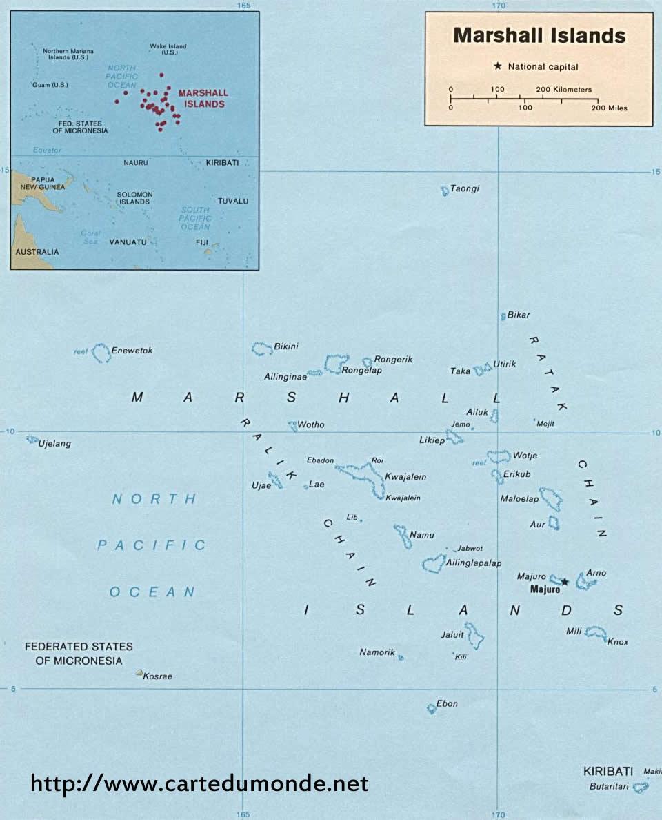 Karte vergrößern Marshall
